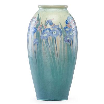 Lorinda Epply, 'Large Vellum vase with stylized flowers and birds', 1916