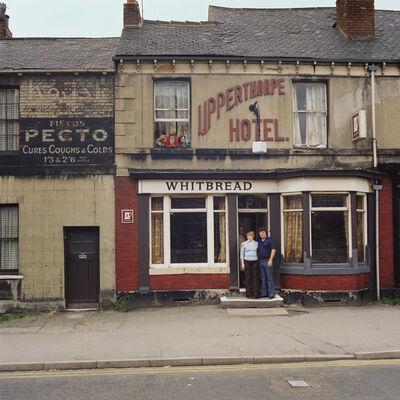 Peter Mitchell, 'Keith, Sandra & the kids. Sunday 25 June 1978. Closing time. Portland Street, Sheffield. ', 1978