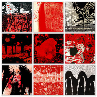 Michael DesRosiers, 'Red Infusion of Binary Black and White', 2019