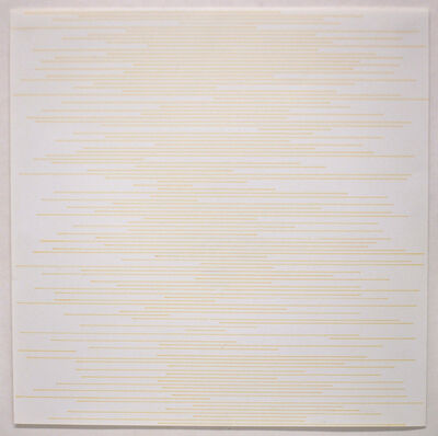 Sol LeWitt, 'Stranght parallel lines of random length not touching sides (yellow)', 1972