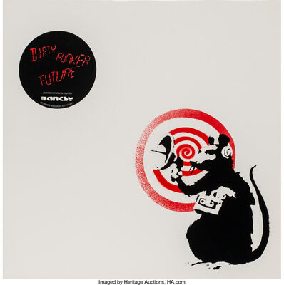 After Banksy, 'Radar Rat Dirty Funker (Red)', 2008
