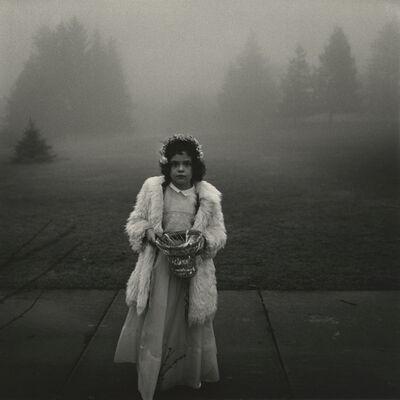 Diane Arbus, 'A flower girl at a wedding, Conn.', 1964