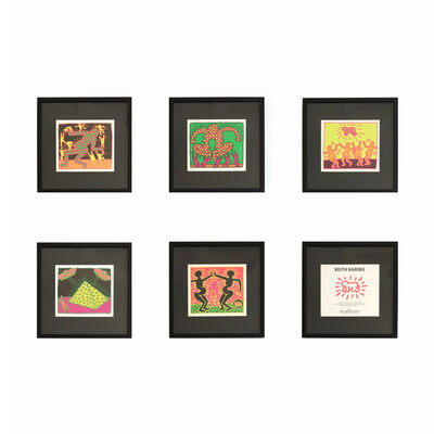 Keith Haring, 'The Fertility Suite (Shafrazi Gallery Promotional Cards)', 1983