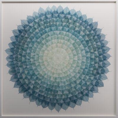 Miya Ando, 'Teal Cerulean Mandala', 2018