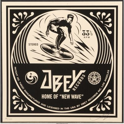 Shepard Fairey, 'New Wave Surfer Album Cover, from the Dance Floor Riot', 2011