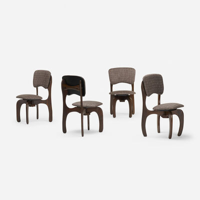 Don Shoemaker, 'set of four dining chairs', c. 1970