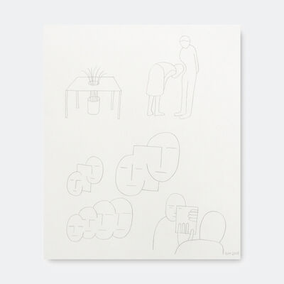 Geoff McFetridge, '6 Minds Shapes Congruent Plant Table ', 2018