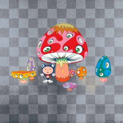 Takashi Murakami, 'mushrooms eye monsters square', 2008