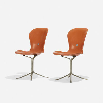 American Desk Corporation, 'Ion Chairs, Pair', 1962