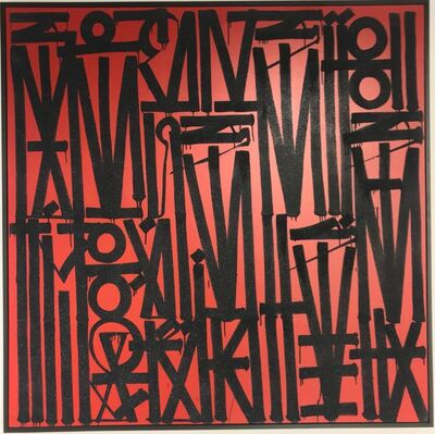 RETNA, 'Untitled Red', 2017
