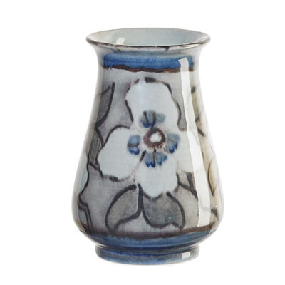 Jens Jensen, 'Jewel Porcelain vase with stylized dogwood blossoms (uncrazed), Cincinnati, OH', 1946