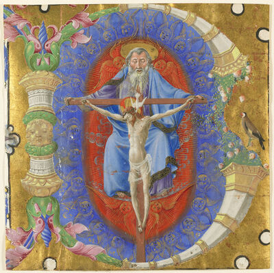 Taddeo Crivelli, 'Initial B: The Trinity', 1460-1470