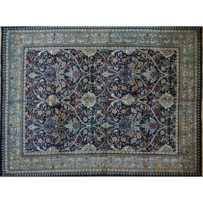 Style Of William Morris, 'Contemporary hand-woven wool rug'