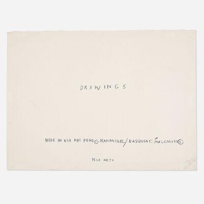 Jean-Michel Basquiat, 'Untitled (Drawings)', 1982