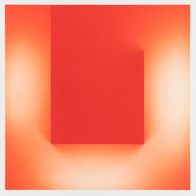 Brian Eno, 'Helica Cadmium Red (Tails)', 2018