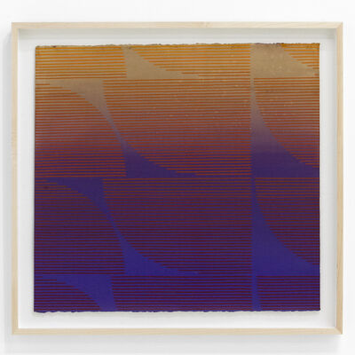"Kelly Ording, '""Eight Answers to a Problem (Purple / Orange)""', 2018"