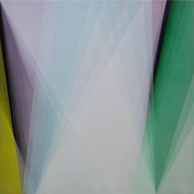 Bernadette Jiyong Frank, 'Untitled (cyan-lilac-green)'