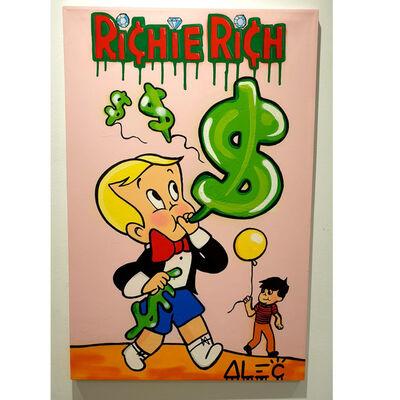 Alec Monopoly, 'Richie Rich Blowing Dollar Balloon ', 2019