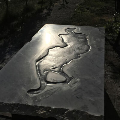 Athar Jaber, 'Petroglyph Opus 16 nr.1', 2017