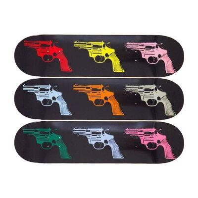 """Andy Warhol, 'ANDY WARHOL """"GUNS"""" TRIPTYCH SKATE DECKS LIMITED EDITION', 2015"""