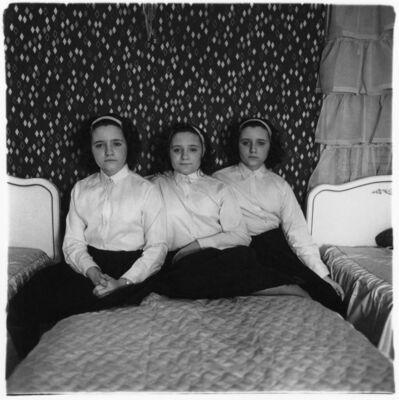 Diane Arbus, 'Triplets in Their Bedroom', 1963