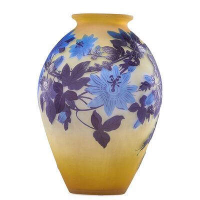 Galle, 'Large passion flower vase, France', early 20th C.