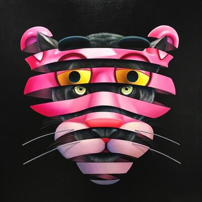 Super A, 'Pink Panther - Trapped Series', 2019