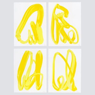 Adrian Falkner / Smash137, 'Yellow Hand', 2018