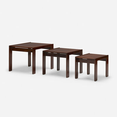 Afra and Tobia Scarpa, 'nesting tables, set of three', c. 1965