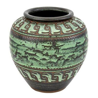 Emile Lenoble, 'Art Deco Glazed Earthenware Vase', Circa 1930