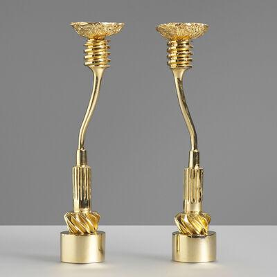 Vassilakis Takis, 'Candlesticks, pair', 1984-85