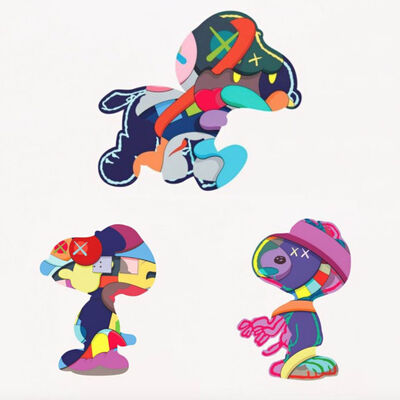KAWS, 'Snoopy Print Portfolio (Set of 3 - No One's Home, Stay Steady, The Things That Comfort)', 2015