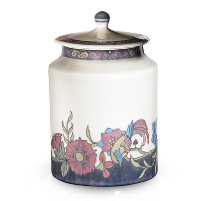 Patti Conant, 'Jewel Porcelain jar with stylized flowers (uncrazed), Cincinnati, OH', 1918