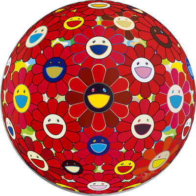 Takashi Murakami, 'Flower Ball (3D) Red', 2013
