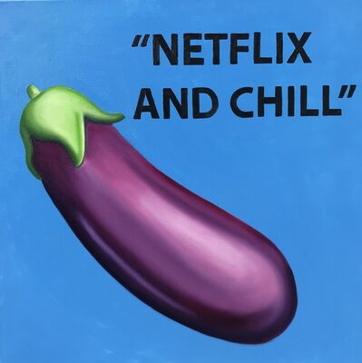 """The Kaplan Twins, '""""Netflix and Chill"""" (blue)', 2019"""