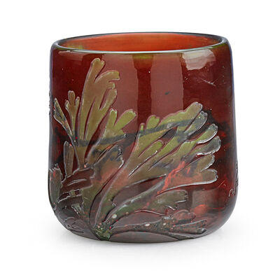 Galle, 'Vase With Underwater Scene, France', Early 20th C.