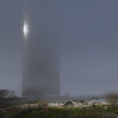 Kate Joyce, 'Sun in a Dense Fog Bouncing Off Lake Point Tower, Chicago, Illinois', 2011