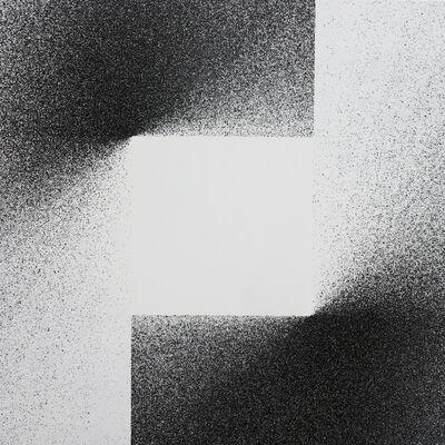 L'outsider, 'Peinture 1x1 madmaxx sur toile #5', 2019