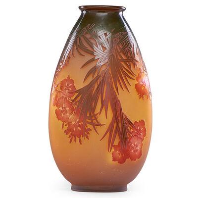 Galle, 'Large oleander vase, France', early 20th C.