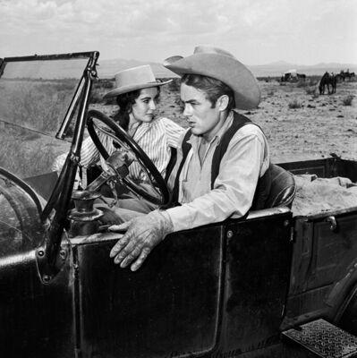 Frank Worth, 'James Dean & Elizabeth Taylor in car on set of 'Giant'', 1955