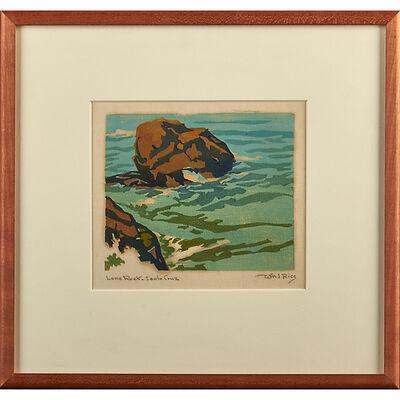"William S. Rice, 'Four Works, California, Ca. 1920-40: ""Lone Creek - Santa Cruz,"" ""Lone Rock,"" ""The Reef,"" And ""The Wave""', ca. 1920-40"