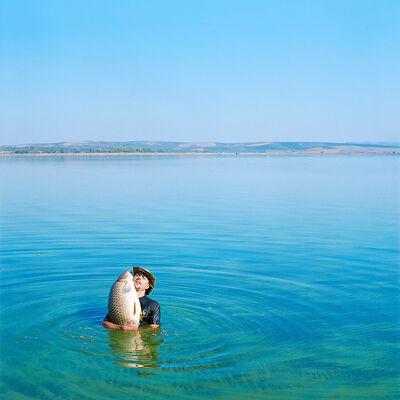 Evžen Sobek, 'Untitled (Man with Fish in Water)', 2009