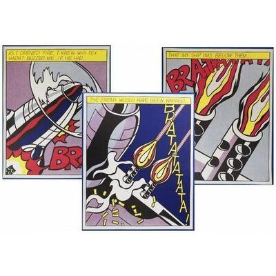 """Roy Lichtenstein, 'Set of 3 Poster """"As I opened Fire"""" after Roy Lichtenstein', Après 1966"""