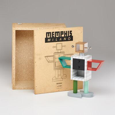 Masanori Umeda, 'Ginza Robot miniature laminated 1:6 scale cabinet, with original box'