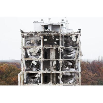 JR, '28Millimetres, Portrait d'une generation, B11, destruction #4, Montfermeil, France, 2013', 2013