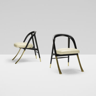 Edward Wormley, 'A Chairs Model 5481, Pair', 1954