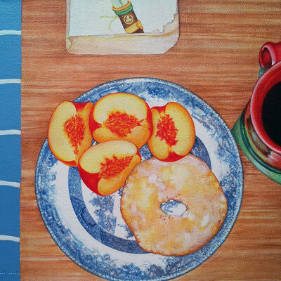 Sarah Atlee, 'Breakfast: Peaches, Coffee, Shogun', 2015