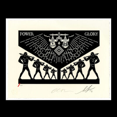 Cleon Peterson, 'Scales Of Injustice - Collab with Shepard Fairey', 2016