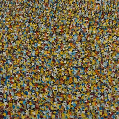 Ablade Glover, 'Yellow Crowd', 2018