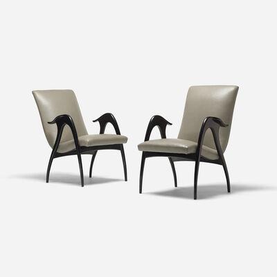 Malatesta & Mason, 'lounge chairs, pair', c. 1950